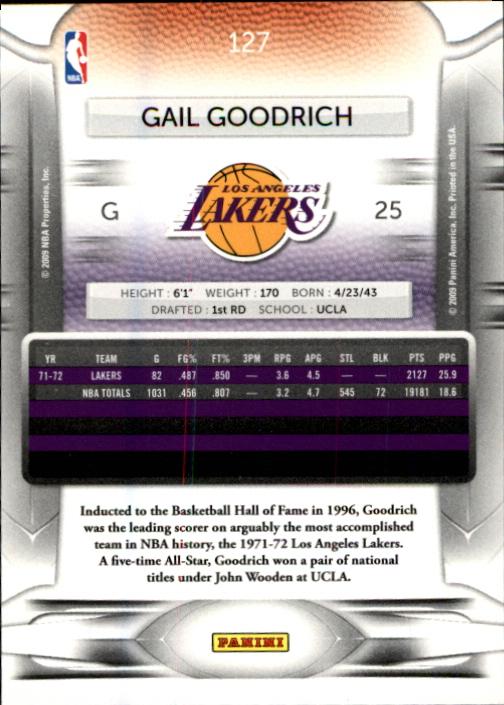 2009-10 Prestige #127 Gail Goodrich back image