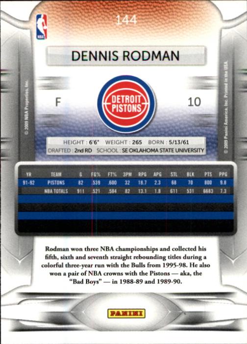 2009-10 Prestige #144 Dennis Rodman back image