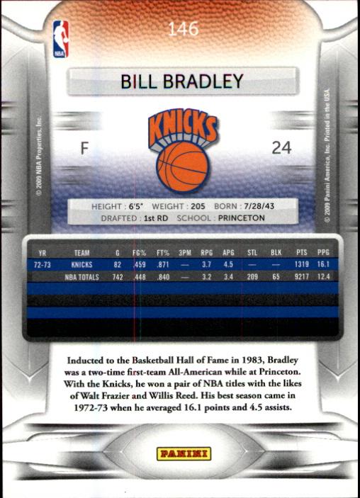 2009-10 Prestige #146 Bill Bradley back image