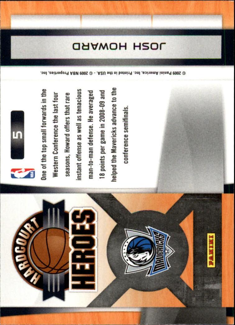 2009-10 Prestige Hardcourt Heroes #5 Josh Howard back image