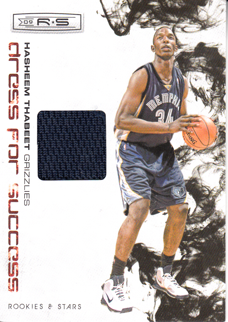 2009-10 Rookies and Stars Dress for Success Materials #2 Hasheem Thabeet