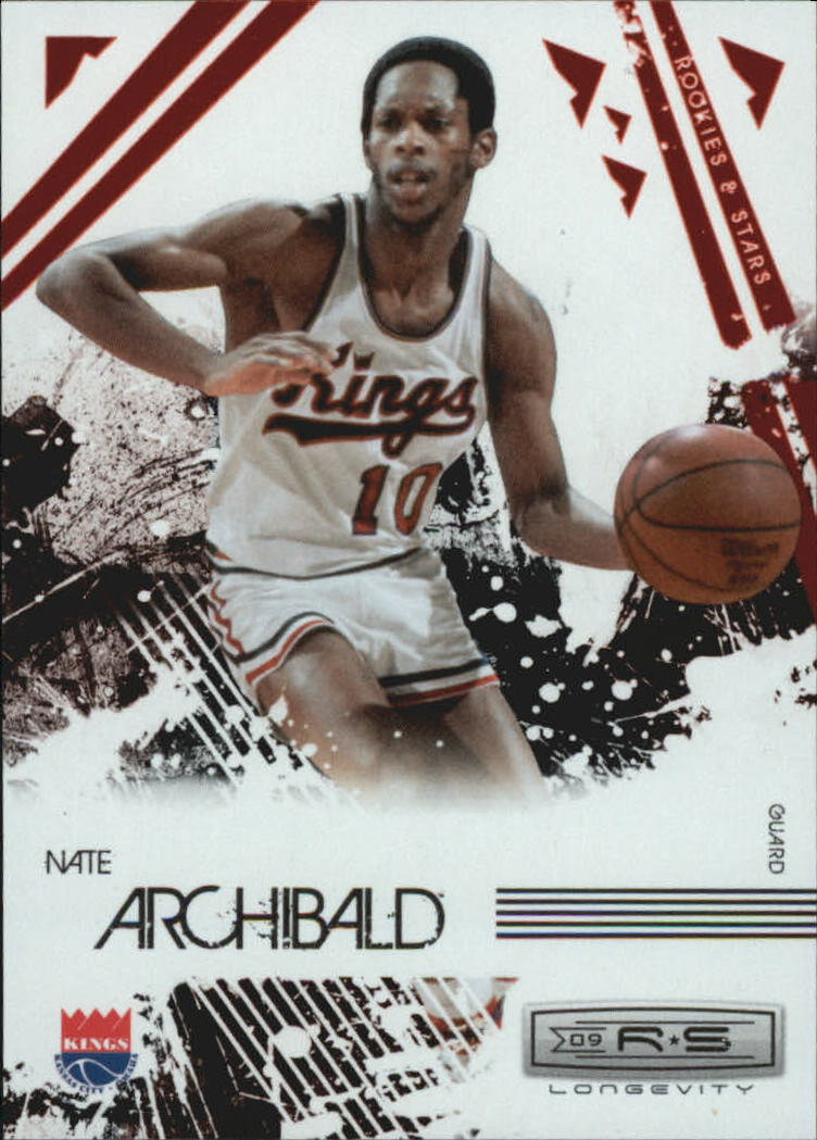2009-10 Rookies and Stars Longevity Ruby #108 Nate Archibald