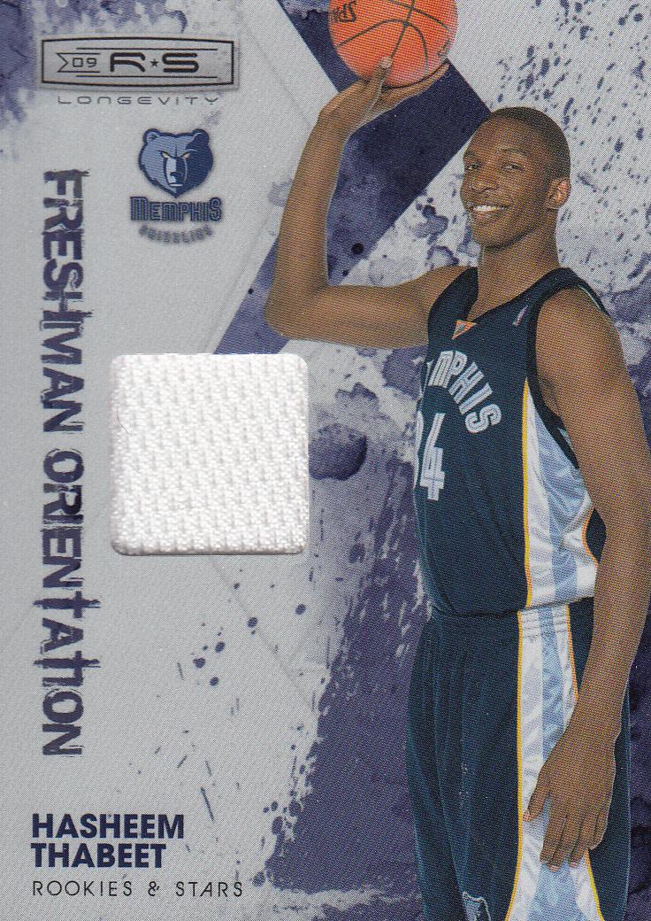 2009-10 Rookies and Stars Longevity Freshman Orientation Materials Jerseys #2 Hasheem Thabeet