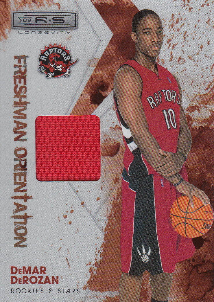2009-10 Rookies and Stars Longevity Freshman Orientation Materials Jerseys #8 DeMar DeRozan
