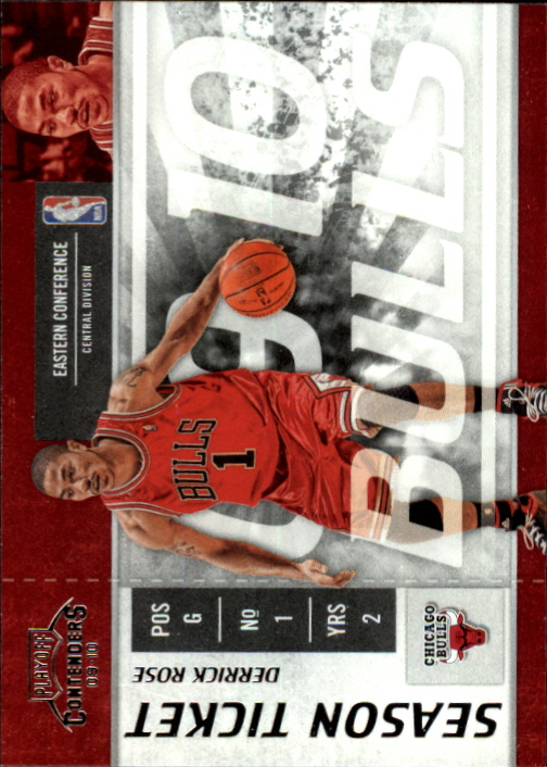 2009-10 Playoff Contenders #36 Derrick Rose