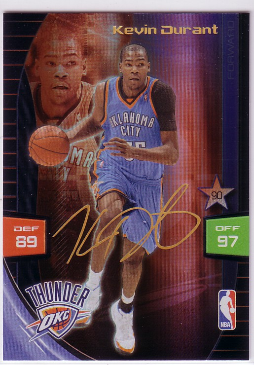 2009-10 Adrenalyn XL Extra Signature #6 Kevin Durant