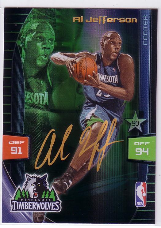 2009-10 Adrenalyn XL Extra Signature #16 Al Jefferson