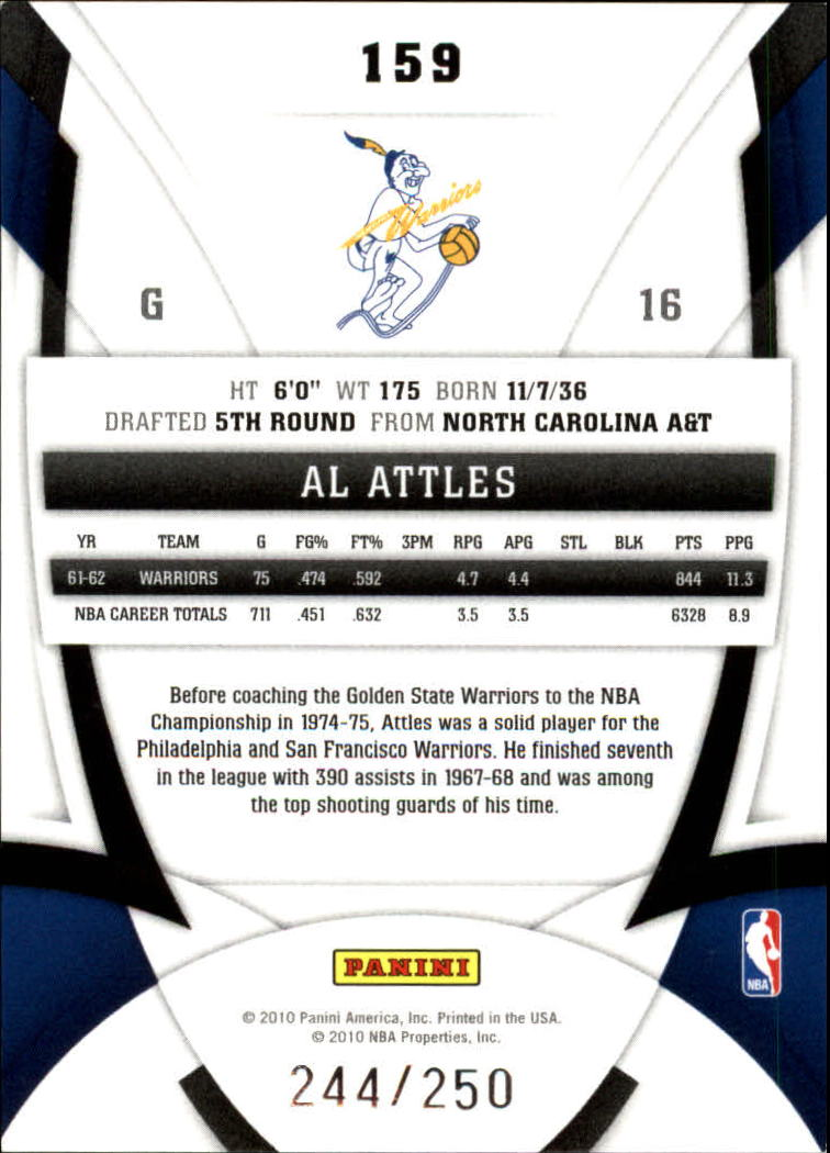 2009-10 Certified Mirror Red #159 Al Attles back image