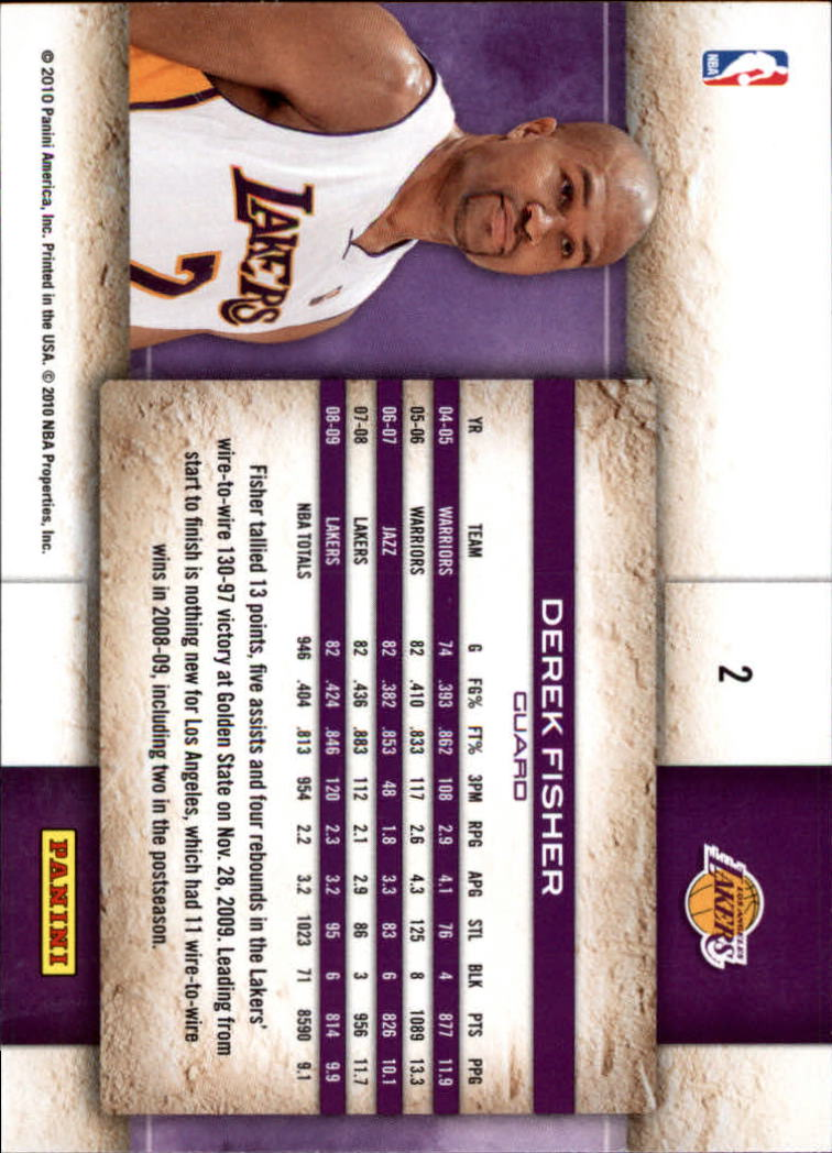 2009-10 Studio #2 Derek Fisher back image