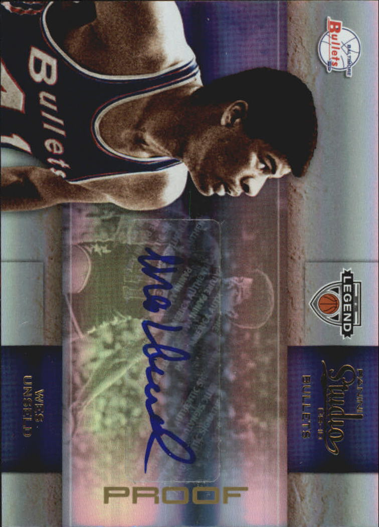 2009-10 Studio Proofs Gold Signatures #101 Wes Unseld/25