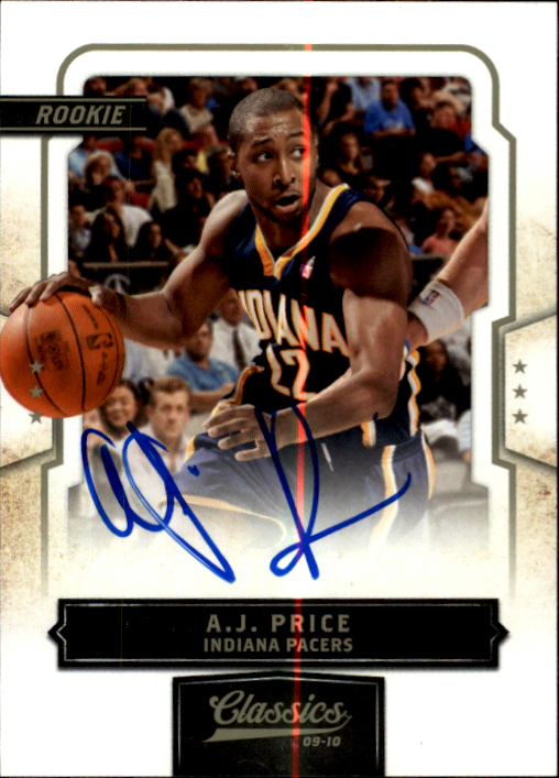 2009-10 Classics #189 A.J. Price AU/999 RC