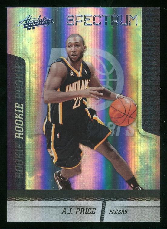 2009-10 Absolute Memorabilia Spectrum Platinum #129 A.J. Price