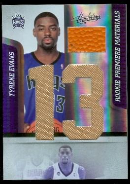 2009-10 Absolute Memorabilia Rookie Materials Jumbo Jersey Numbers Basketball #166 Tyreke Evans