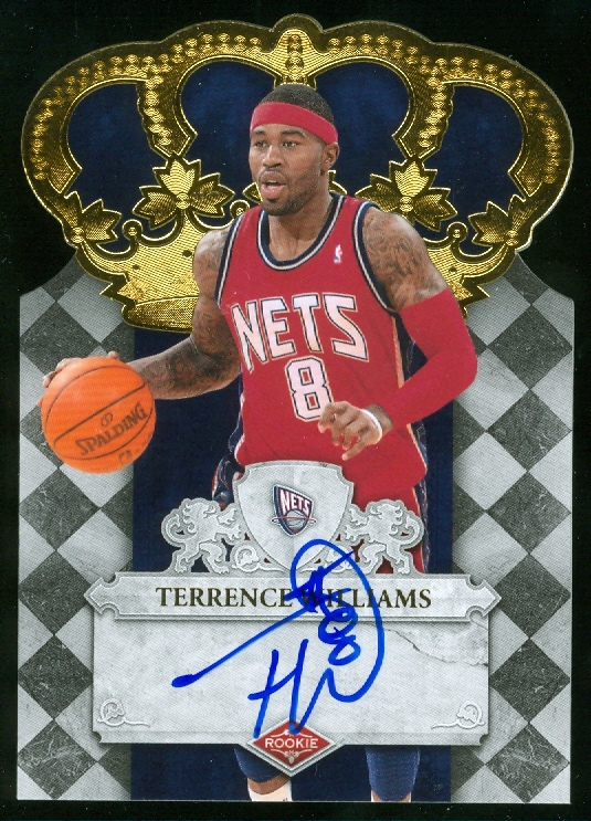 2009-10 Crown Royale #119 Terrence Williams AU/599 RC