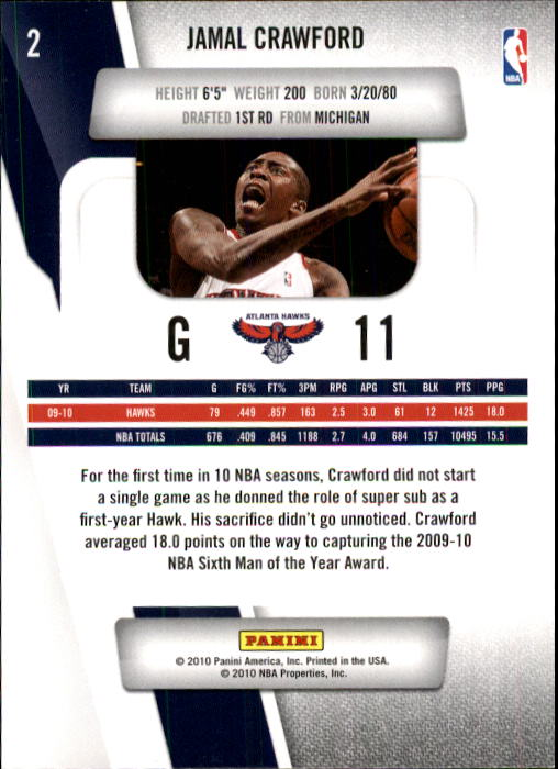 2010-11 Prestige #2 Jamal Crawford back image