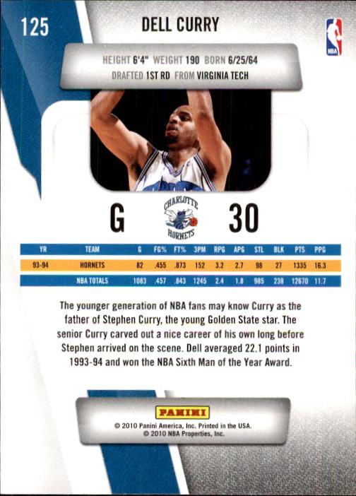2010-11 Prestige #125 Dell Curry back image