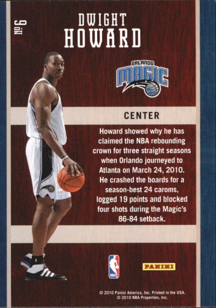 2010-11 Prestige Hardcourt Heroes #6 Dwight Howard back image