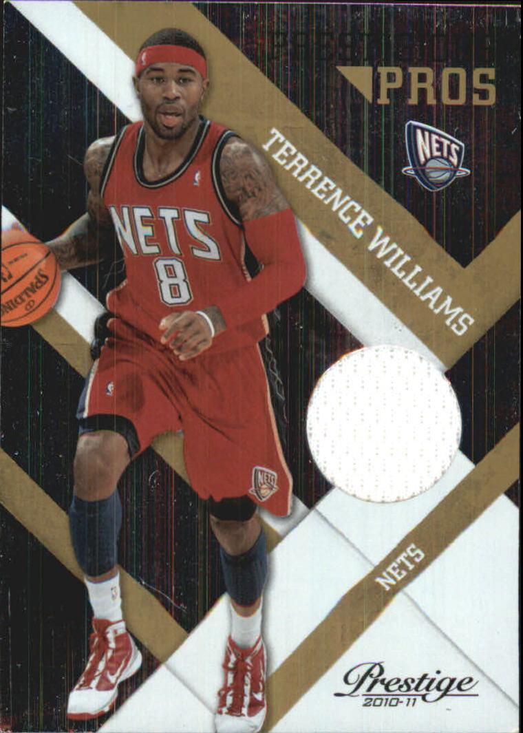 2010-11 Prestige Prestigious Pros Materials Gold #5 Terrence Williams