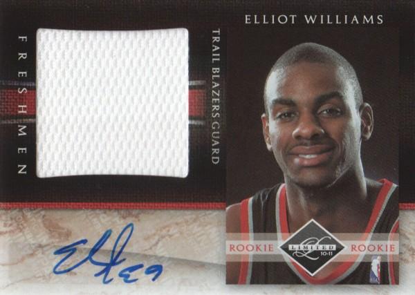 2010-11 Limited Freshmen Jumbo Signatures #22 Elliot Williams