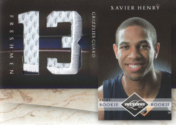 2010-11 Limited Freshmen Jumbo Jersey Numbers Prime #12 Xavier Henry/25