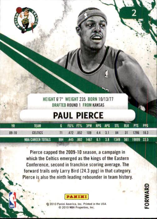 2010-11 Rookies and Stars #2 Paul Pierce back image