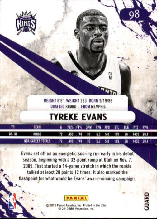 2010-11 Rookies and Stars #98 Tyreke Evans back image