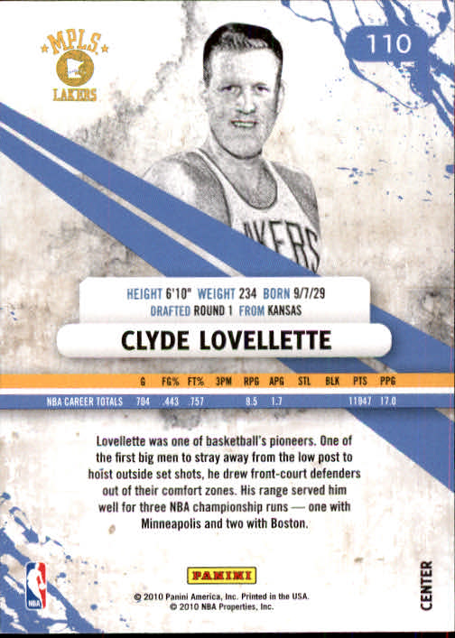 2010-11 Rookies and Stars #110 Clyde Lovellette back image
