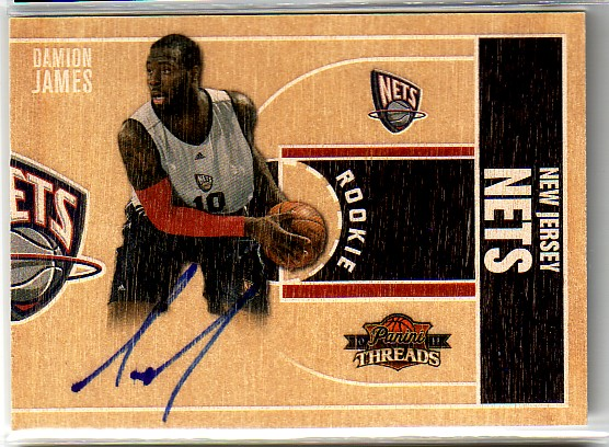 2010-11 Panini Threads #7 Damion James AU RC