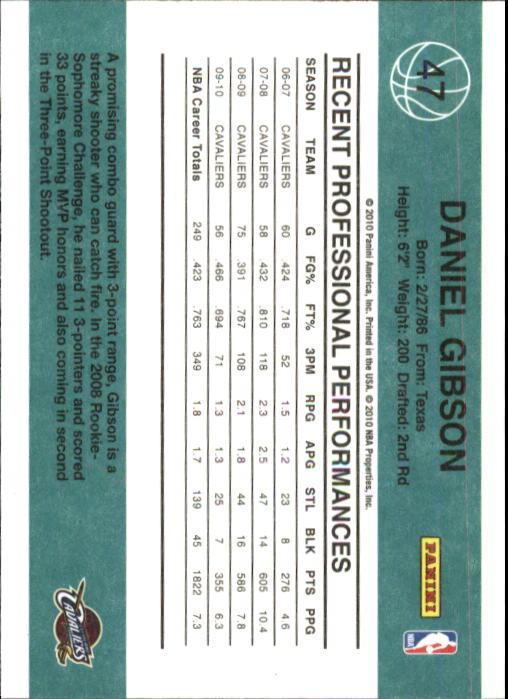 2010-11 Donruss #47 Daniel Gibson back image