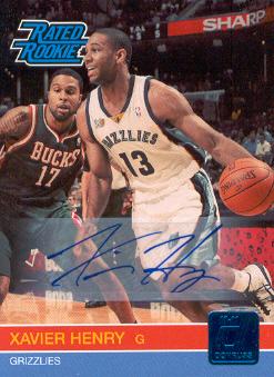 2010-11 Donruss Signatures #239 Xavier Henry/399