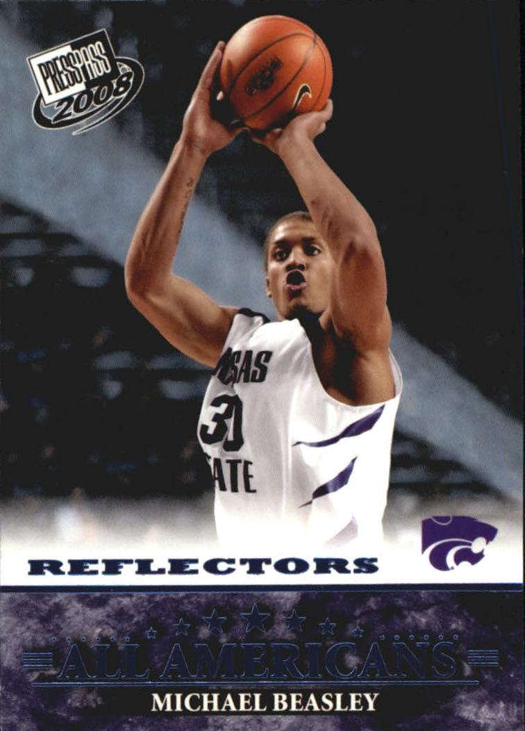 2008 Press Pass Reflectors Blue #47 Michael Beasley AA