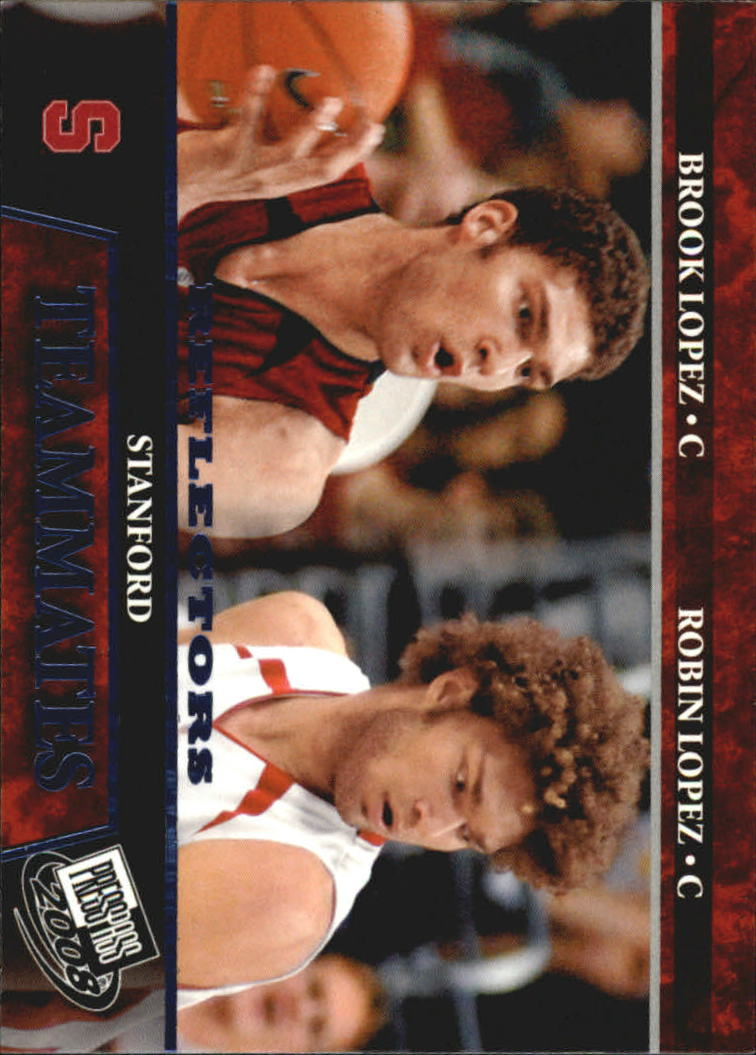 2008 Press Pass Reflectors Blue #55 Brook Lopez/Robin Lopez