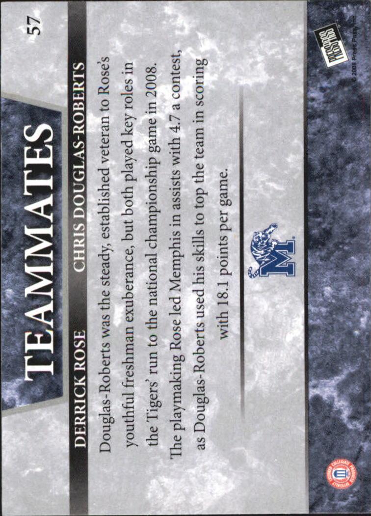 2008 Press Pass Reflectors Blue #57 Derrick Rose/Chris Douglas-Roberts back image