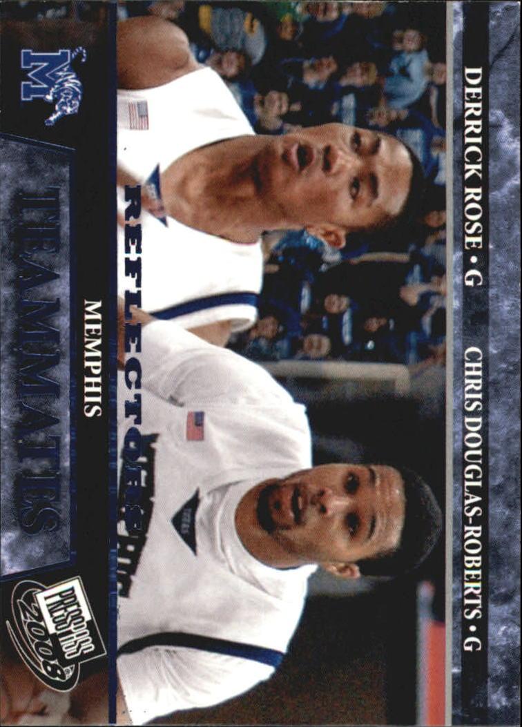 2008 Press Pass Reflectors Blue #57 Derrick Rose/Chris Douglas-Roberts