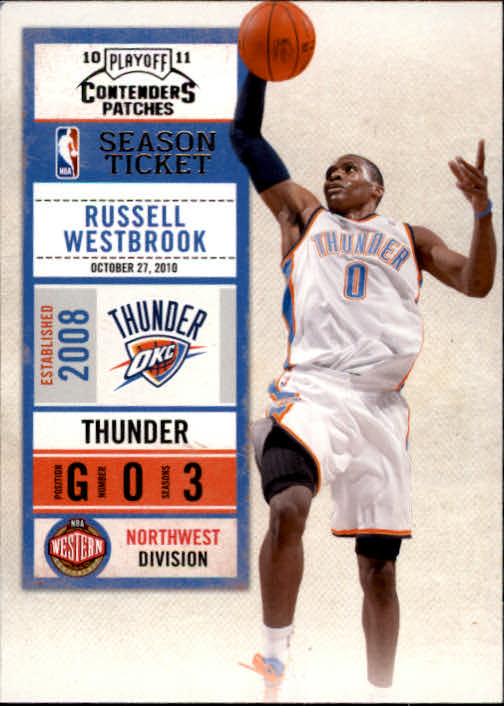7ca0189be25a94 2010-11 Playoff Contenders Patches  29 Russell Westbrook