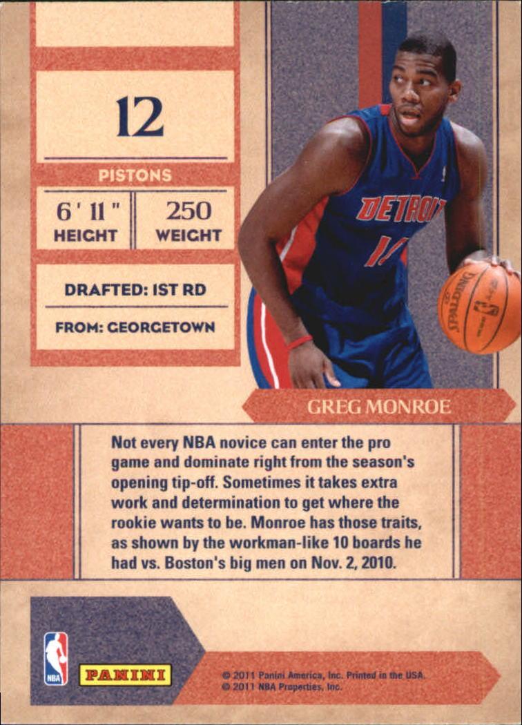 2008 TOPPS McDONALDS GREG MONROE GEORGETOWN ROOKIE!!! Basketbal