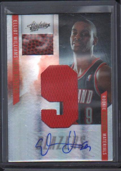 2010-11 Absolute Memorabilia Rookie Materials Jumbo Jersey Numbers Basketball Signatures #171 Elliot Williams