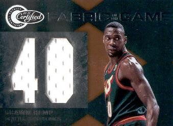 2010-11 Totally Certified Fabric of the Game Jumbo Jersey Number #35 Shawn Kemp/99
