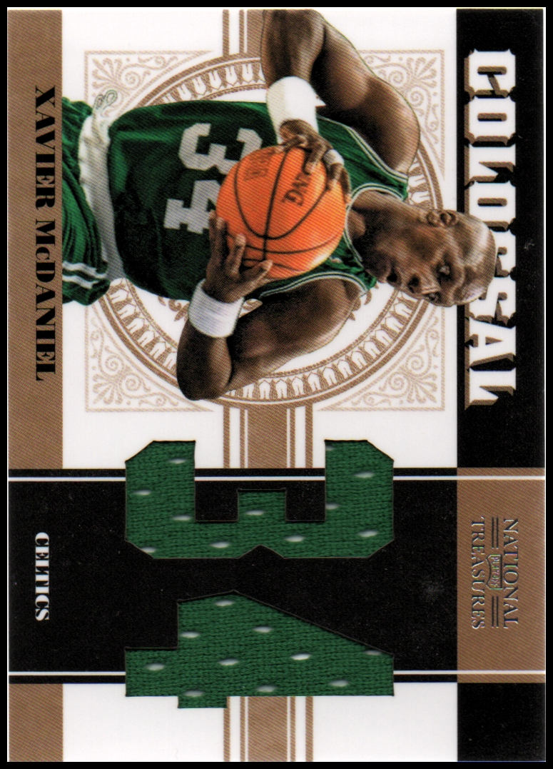 2010-11 Playoff National Treasures Colossal Materials Jersey Numbers #42 Xavier McDaniel/49