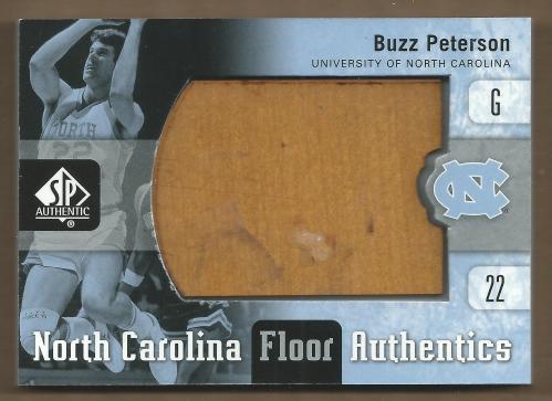 2011-12 SP Authentic North Carolina Floor #UNCBP Buzz Peterson
