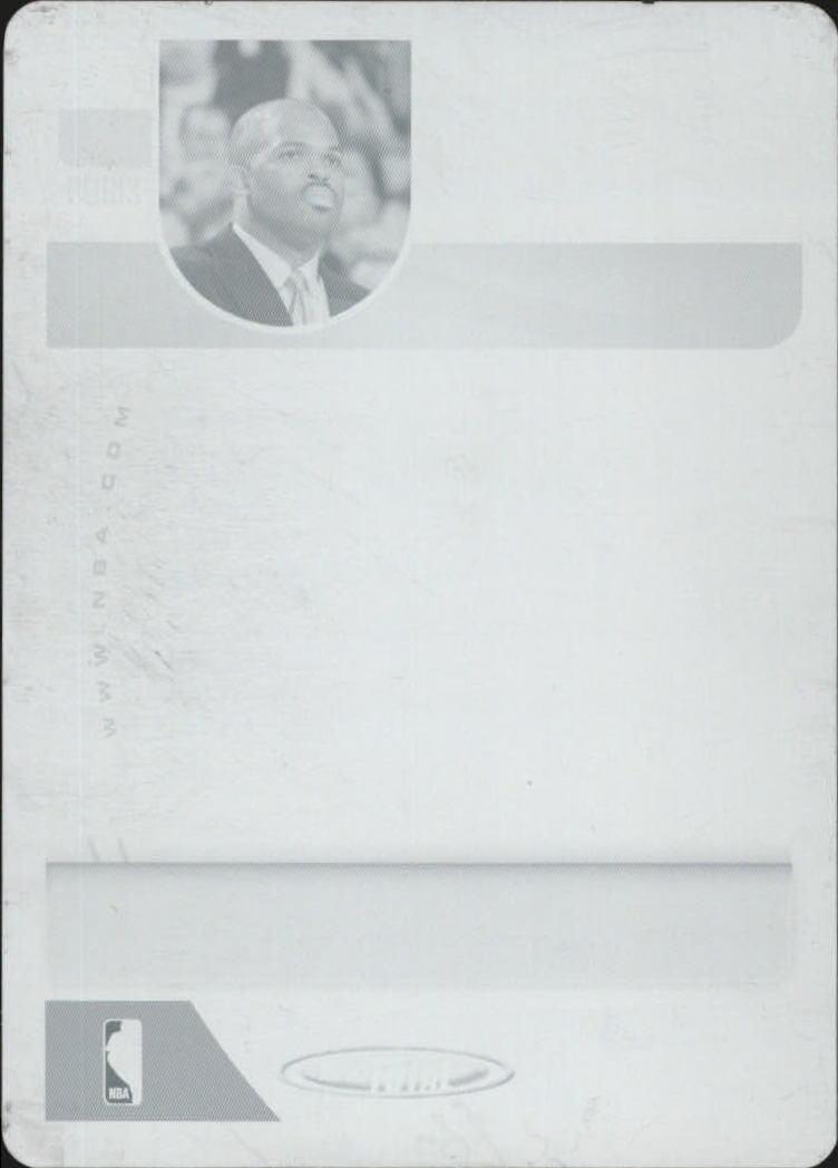 2005-06 Topps Total Press Plates Cyan Back #407 Nate McMillan