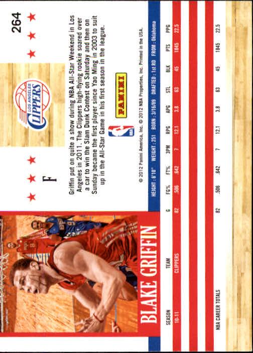 2011-12 Hoops #264 Blake Griffin back image