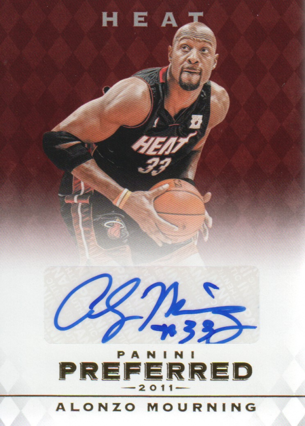 2011-12 Panini Preferred #5 Alonzo Mourning PS/25 AU