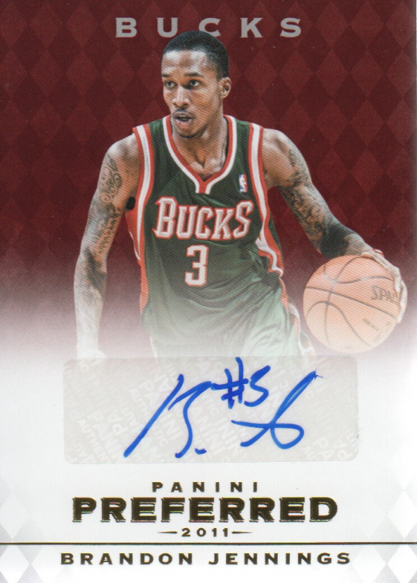 2011-12 Panini Preferred #20 Brandon Jennings PS/25 AU