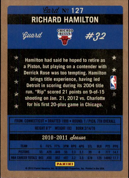 2011-12 Panini Past and Present #127 Richard Hamilton back image