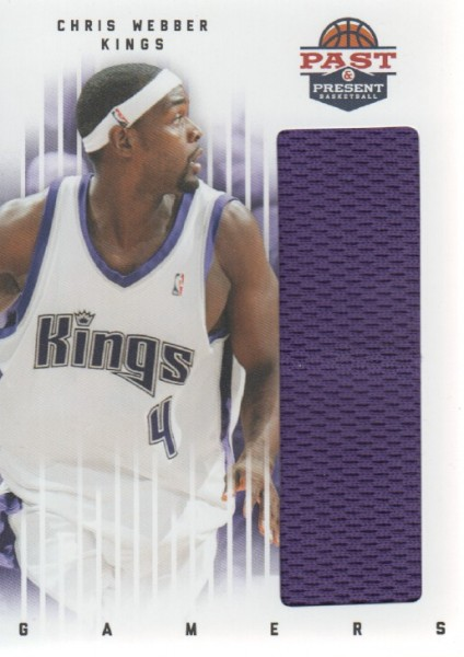 2011-12 Panini Past and Present Gamers Jerseys #24 Chris Webber