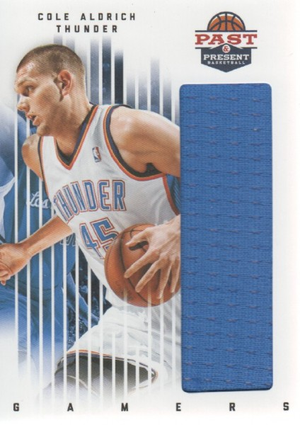 2011-12 Panini Past and Present Gamers Jerseys #25 Cole Aldrich