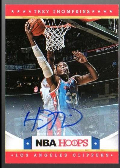 2012-13 Hoops Autographs #272 Trey Thompkins
