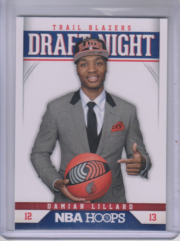 2012-13 Hoops Draft Night #6 Damian Lillard