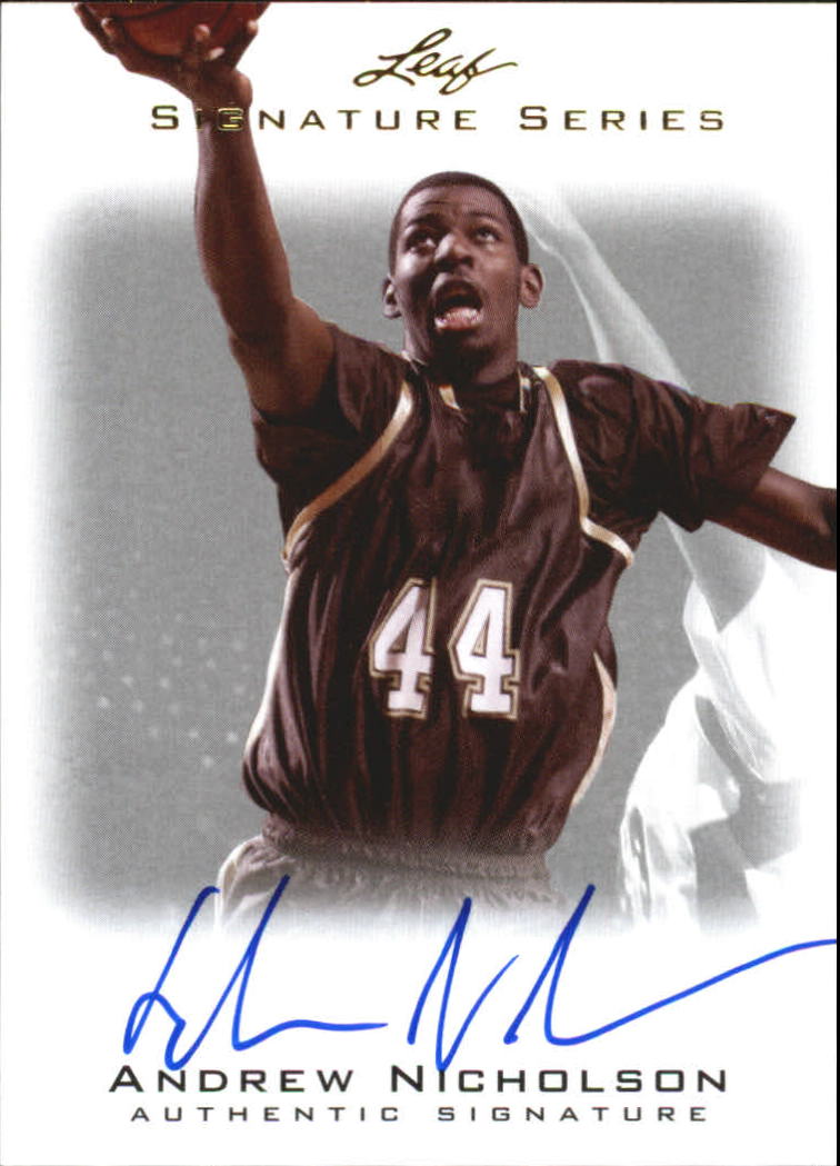 2012-13 Leaf Signature #AN1 Andrew Nicholson